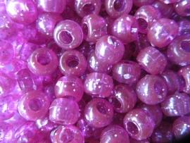 Roze glitter pony kralen per 25