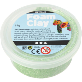 Foam clay metalic groen 35 gram