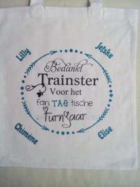 Bedankt Trainster voor het Fan TAS tische turnjaar
