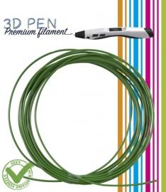 3D Pen filament PLA - 5M - bladgroen