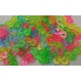 S-clips gekleurd 25 stuks