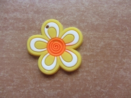 Bloem geel/oranje per stuk