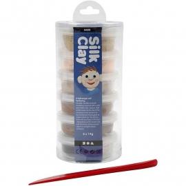 Silk Clay Assortiment huidskleur 6x14 gram