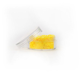 Chunky glitter fluoresent yellow (8ml)