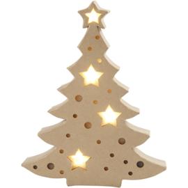 Kerstboom met licht