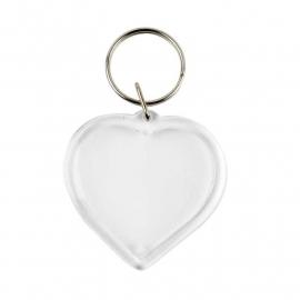 Sleutelhanger hart 4 stuks
