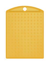 Medaillon transparant geel