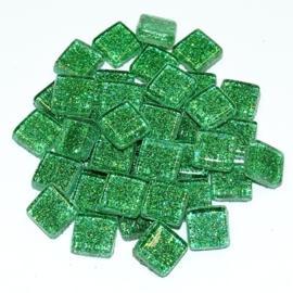 Soft glas Glitter (Vierkant) - Groen (65 gr)