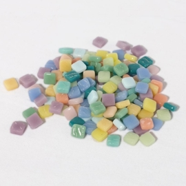 Colourful Squares mix 75 gram - Tutti Frutti pastel