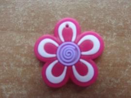 Bloem roze/paars per stuk