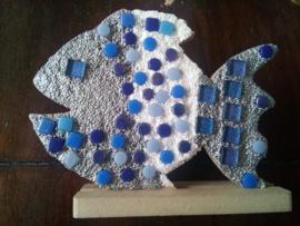 Mdf vis versieren met Mozaik en foam clay