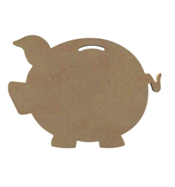 Spaarvarken 6 mm dik, 15 cm