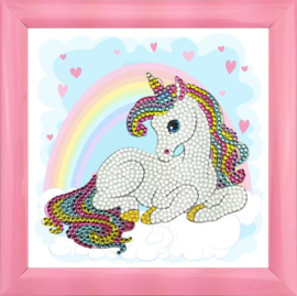 Crystal Art kinder frame Unicorn dreams