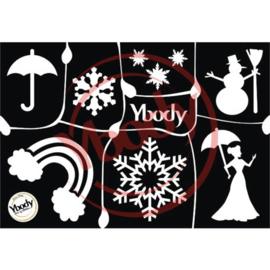 A5 Winter stencil