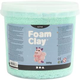 Foam clay glitter licht groen 560 gram