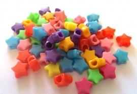 Kralen ster mix 25 stuks