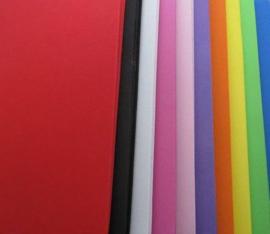 EVA foam vellen 2mm 22x30cm 10 kleuren 50st (5 vl x 10 kleuren)