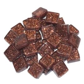 Soft glas Glitter (Vierkant) - Bruin (65 gr)