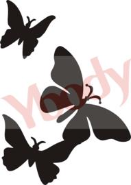 17300 3 Butterflies
