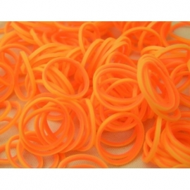 In-out oranje/gele elastiekjes 600 stuks + 24 clips