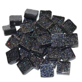 Soft glas Glitter (Vierkant) - Zwart (65 gr)