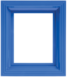 Frame signaal blauw