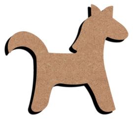 Grappige paard 6 mm dik, 15 cm