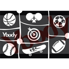 A5 Sports stencil