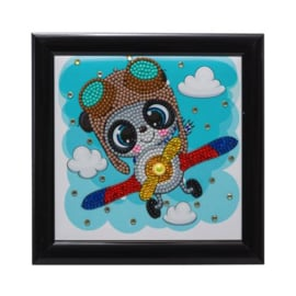 Crystal Art kinder frame Flying Panda