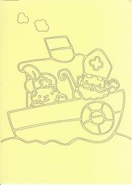 Sint en piet op de boot