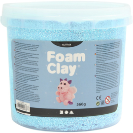 Foam clay glitter licht blauw 560 gram