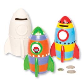 2 raket spaarpotten van Keramiek
