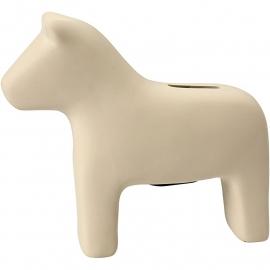Spaarpaard, h: 14,5 cm, l: 16,5 cm, wit,