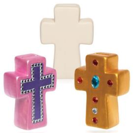 2 kruis spaarpotten van Keramiek