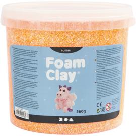 Foam clay glitter oranje 560 gram