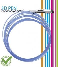 3D Pen filament PLA - 5M - transparant blauw