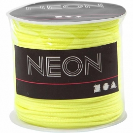Macramé koord, 1 mm, neon geel, 28 m
