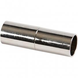 Magneetsluiting 23mm, verzilverd 2 stuks