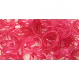 Metalic rode elastiekjes 600 stuks
