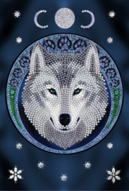 Crystal Art notebook Lunar Wolf