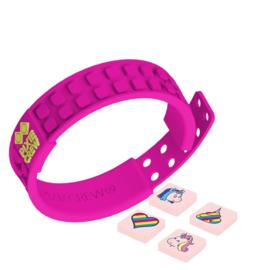 Pixie crew roze armband incl eenhoorn pixies