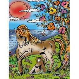 Paard met veulen Small 21x29,7 cm