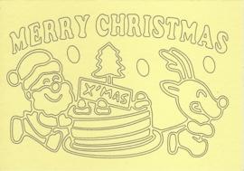 Kerst kerstman en rendier