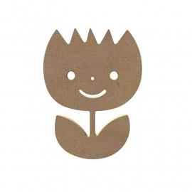 Lachende tulp 6 mm dik, 15 cm