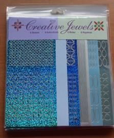 Creative Jewels - blauw/zilver