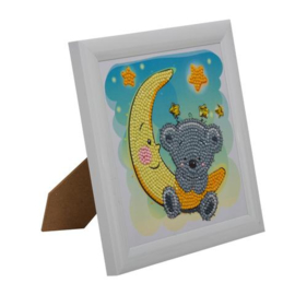 Crystal Art kinder frame  Teddy in the moon
