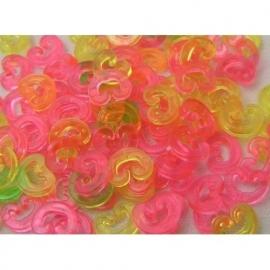 C-clips gekleurd 25 stuks