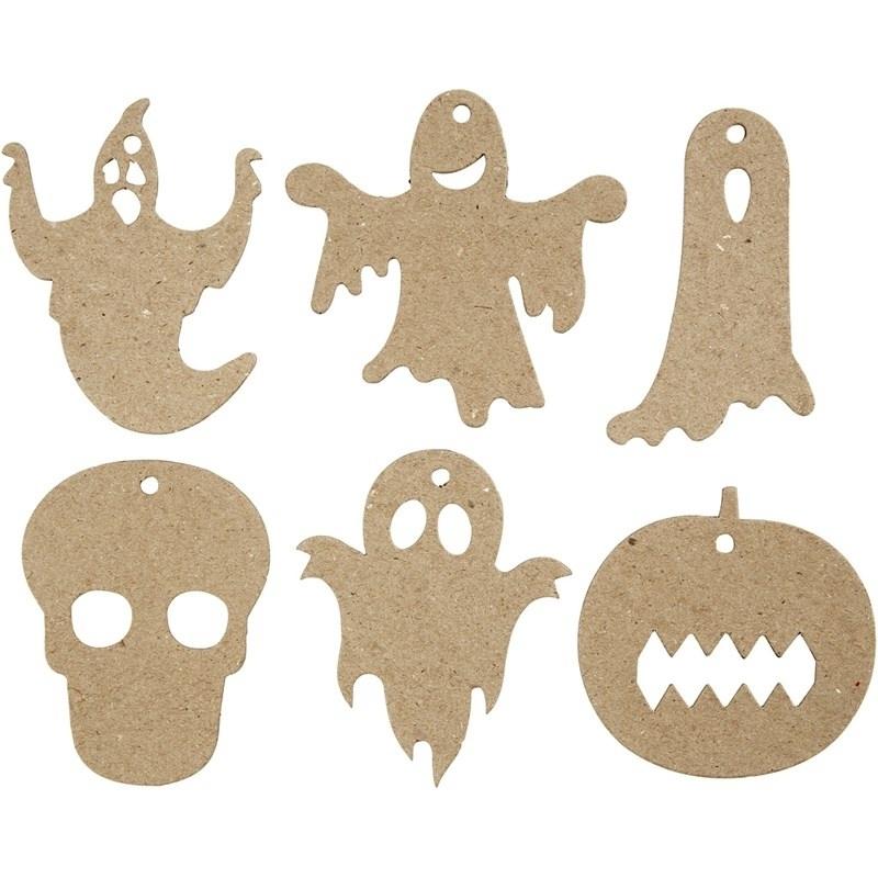 Halloween decoraties afm 3-10 cm, 30 assorti