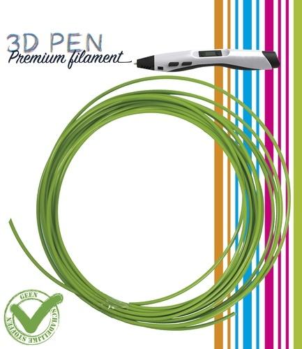 3D Pen filament PLA - 5M - appel groen