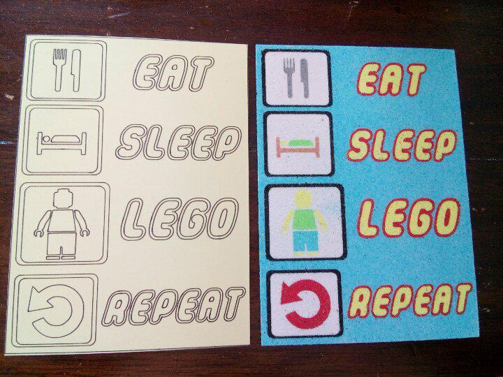Lego eat sleep